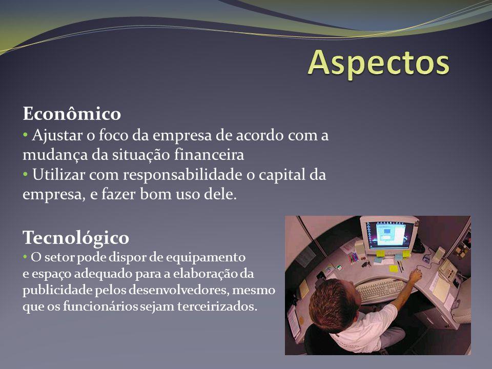 Econômico Ajustar o foco da empresa de acordo com a mudança da situação financeira Utilizar com responsabilidade o capital da empresa, e fazer bom uso