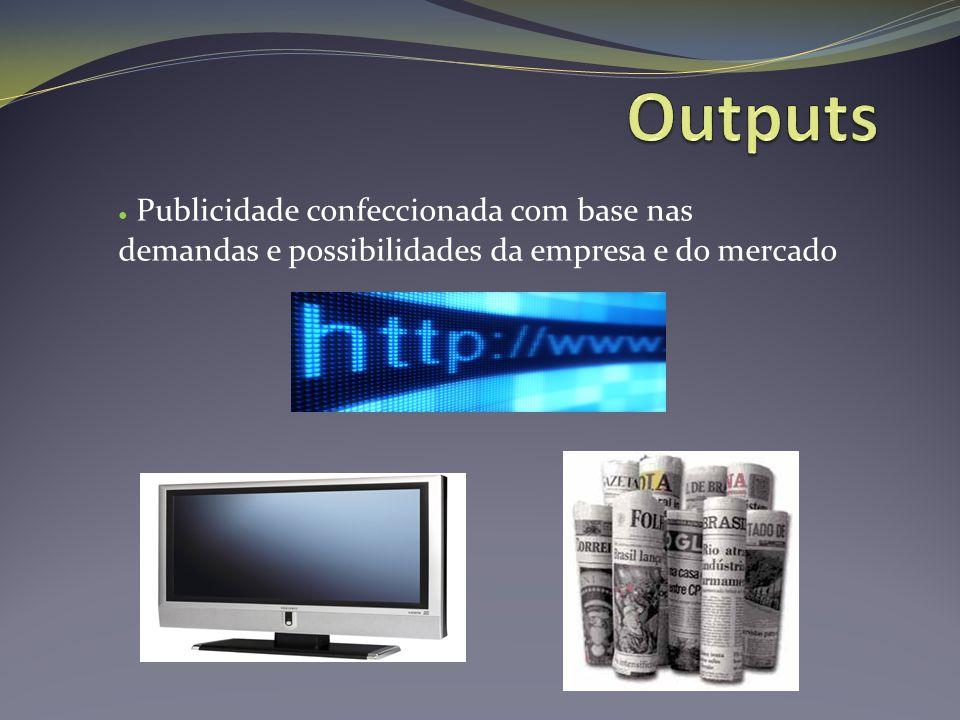 ● Publicidade confeccionada com base nas demandas e possibilidades da empresa e do mercado