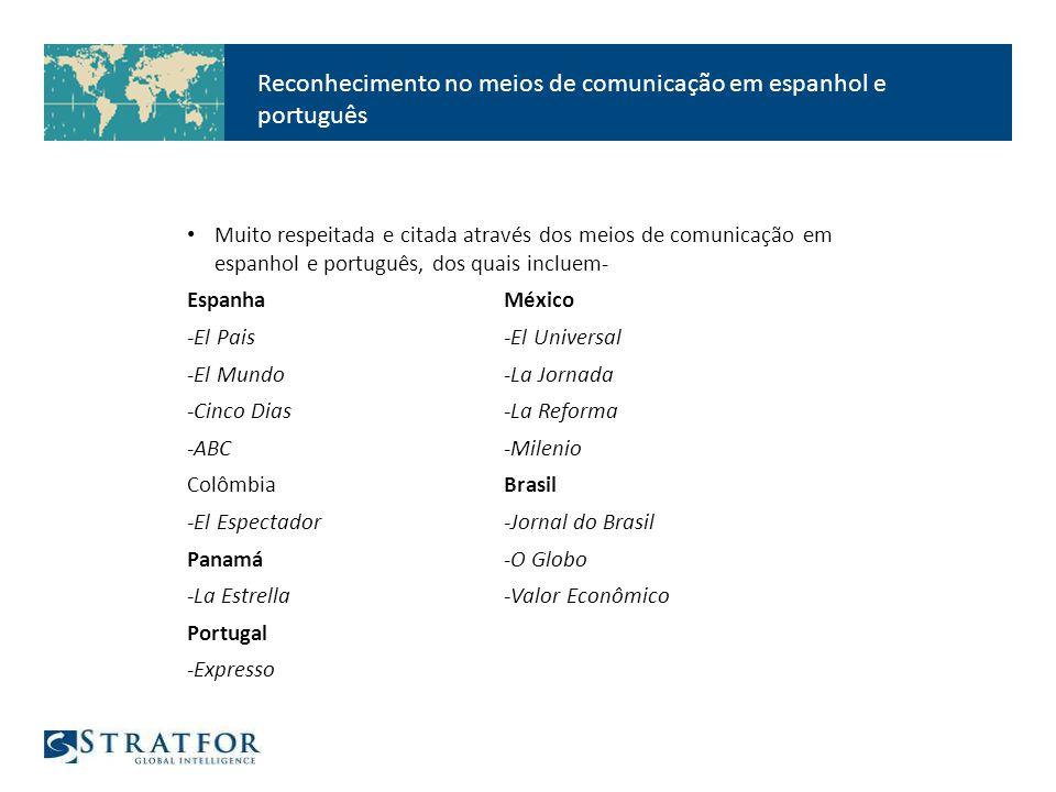 STRATFOR é seu sócio principal de notícias internacionais.