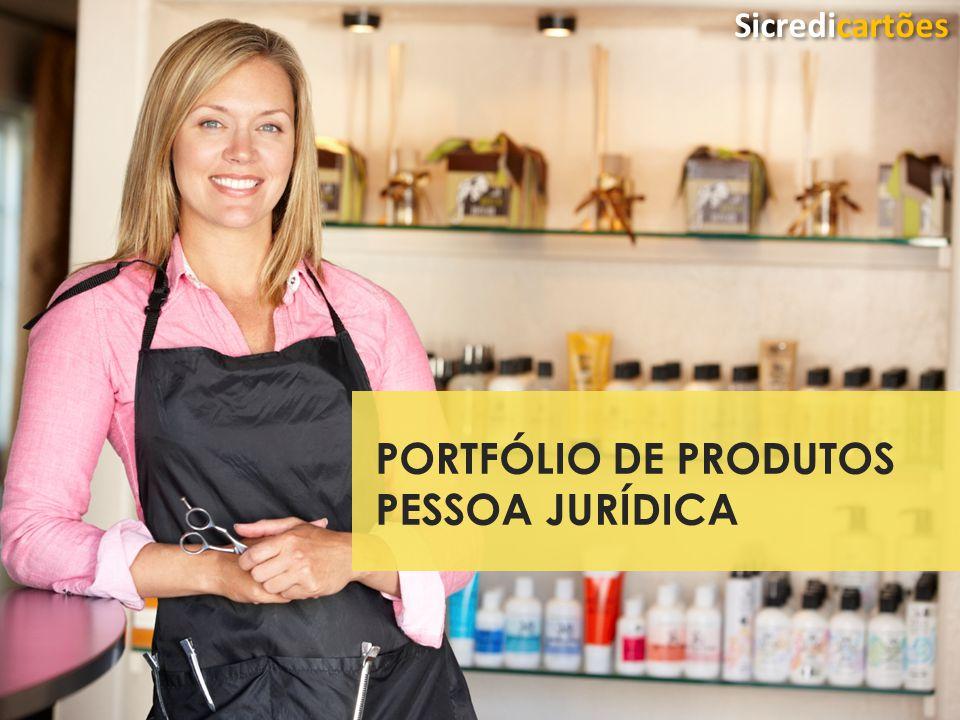 Classificação da Informação: Uso Irrestrito PORTFÓLIO DE PRODUTOS PESSOA JURÍDICA Sicredicartões