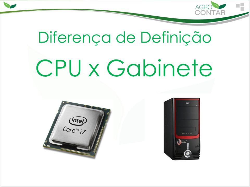 Diferença de Definição CPU x Gabinete