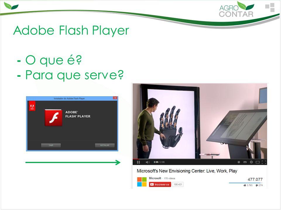 Adobe Flash Player - O que é? - Para que serve?
