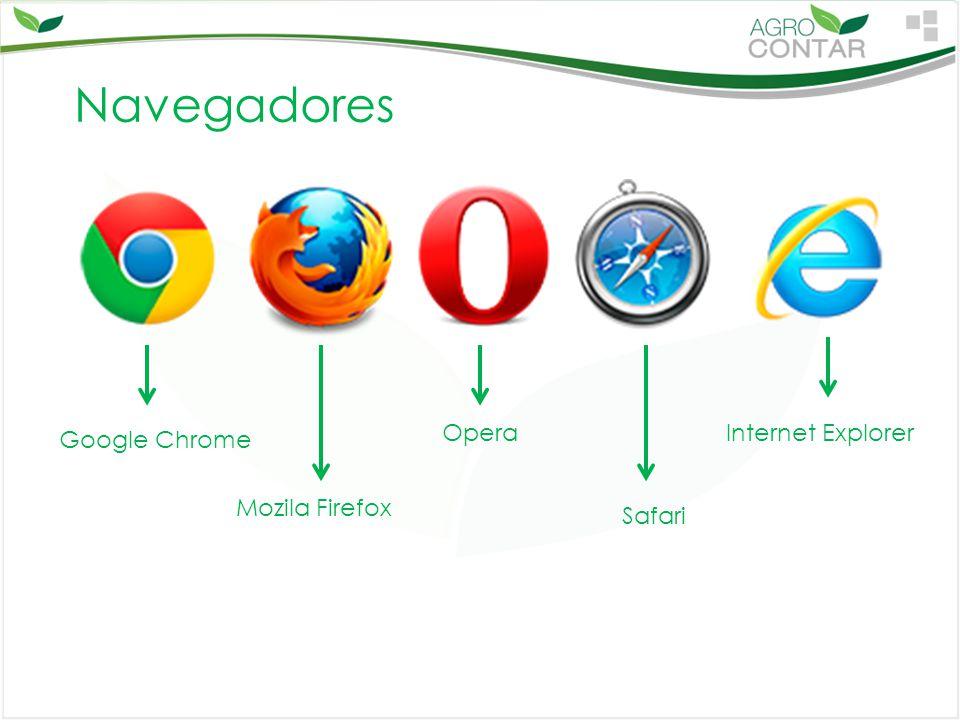 Navegadores Google Chrome Mozila Firefox Opera Safari Internet Explorer