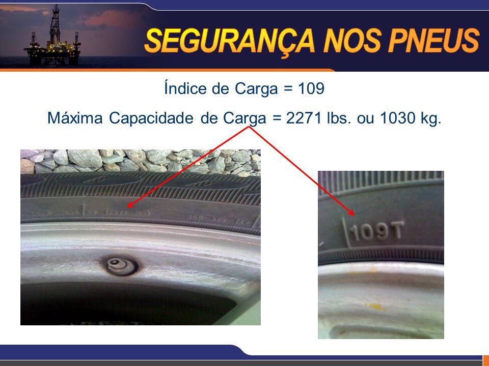 Índice de Carga = 109 Máxima Capacidade de Carga = 2271 lbs. ou 1030 kg.