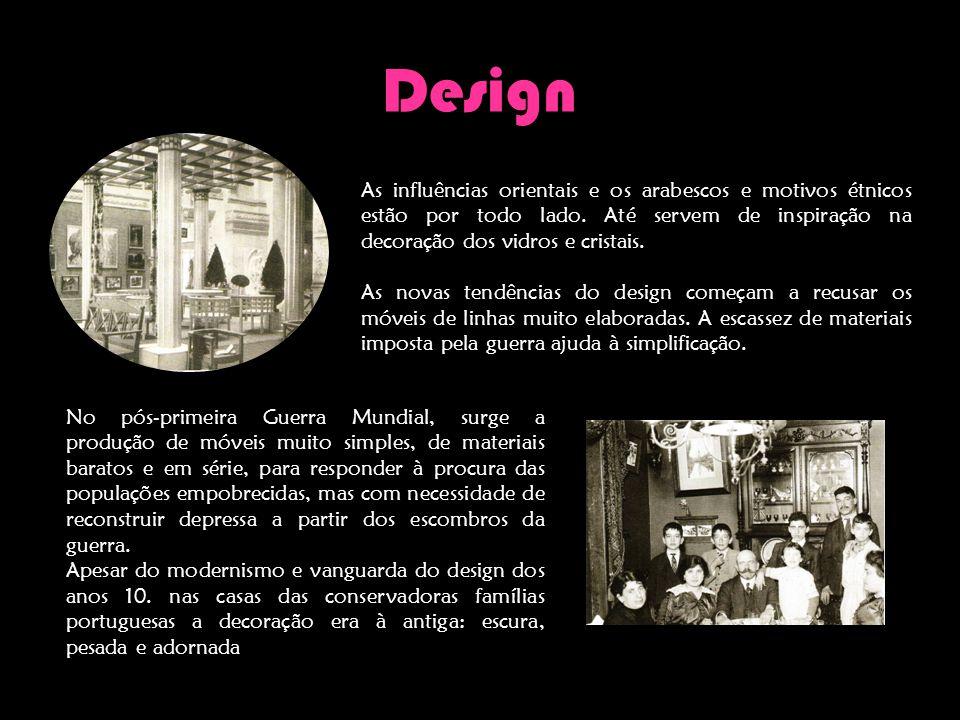 Design As influências orientais e os arabescos e motivos étnicos estão por todo lado. Até servem de inspiração na decoração dos vidros e cristais. As
