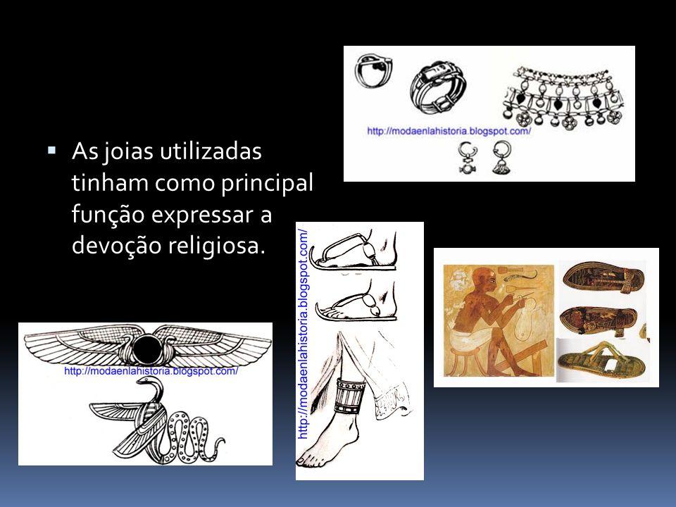 As joias utilizadas tinham como principal função expressar a devoção religiosa.