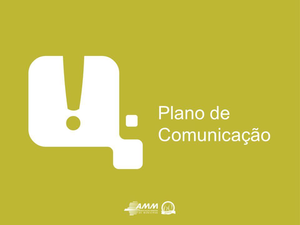 O Plano de Comunicação Estrutura de comunicação nas prefeituras abrangendo todas as áreas como : Imprensa, Relações Públicas, Eventos, Publicidade/Design, Assessoria Parlamentar Documento anual que estabelece um conjunto de procedimentos e ações estratégicas para sua implementação