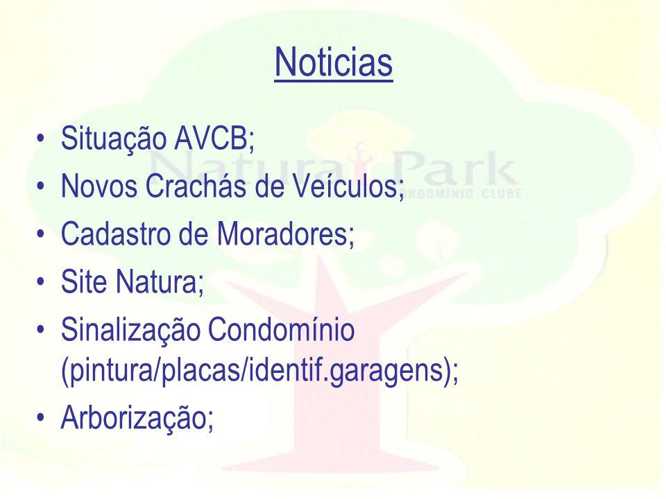 Noticias Situação AVCB; –Treinamento Brigada ok!; –Preparação ok.