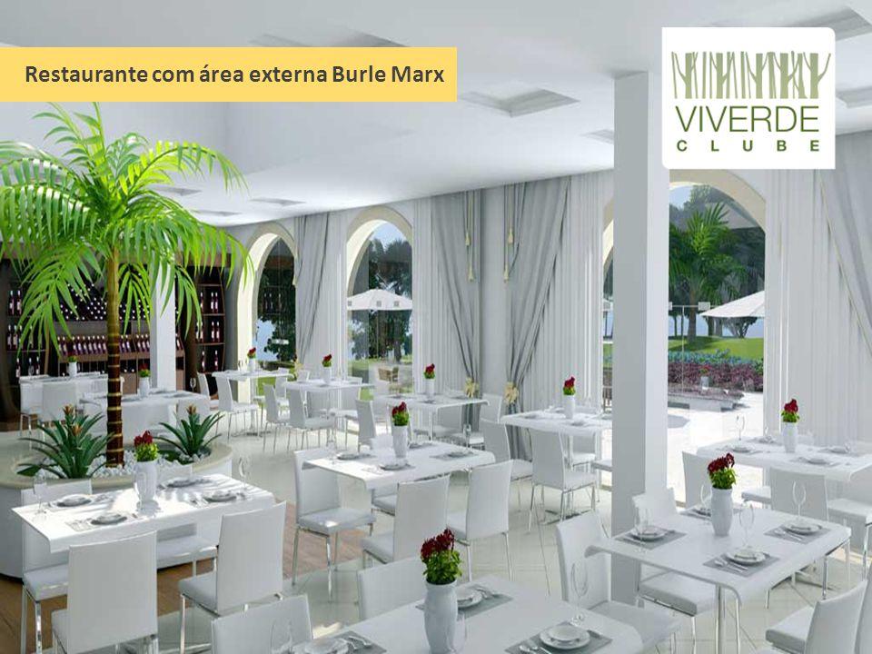Restaurante com área externa Burle Marx