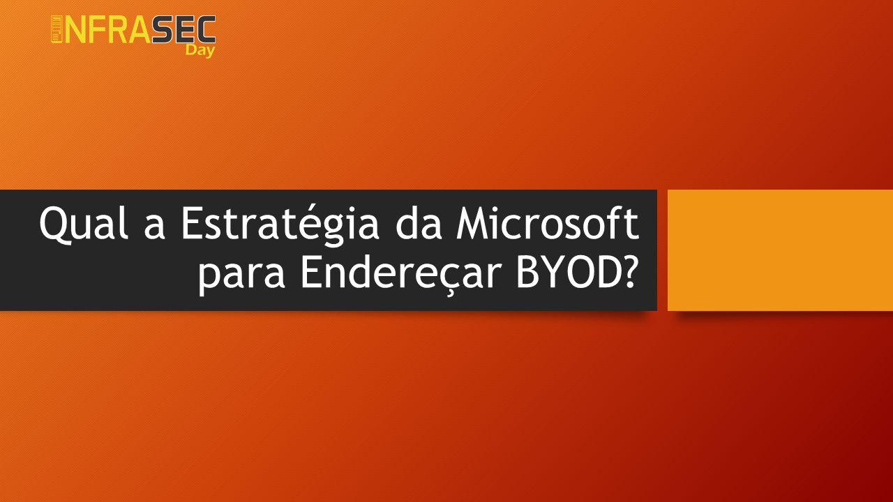 Qual a Estratégia da Microsoft para Endereçar BYOD?