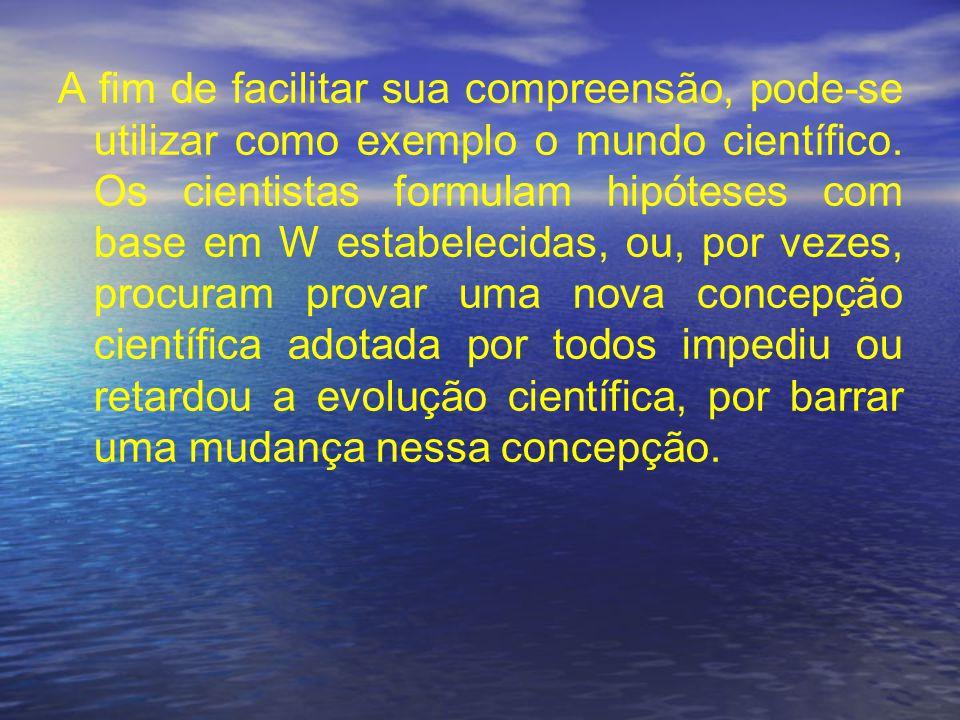 A fim de facilitar sua compreensão, pode-se utilizar como exemplo o mundo científico.