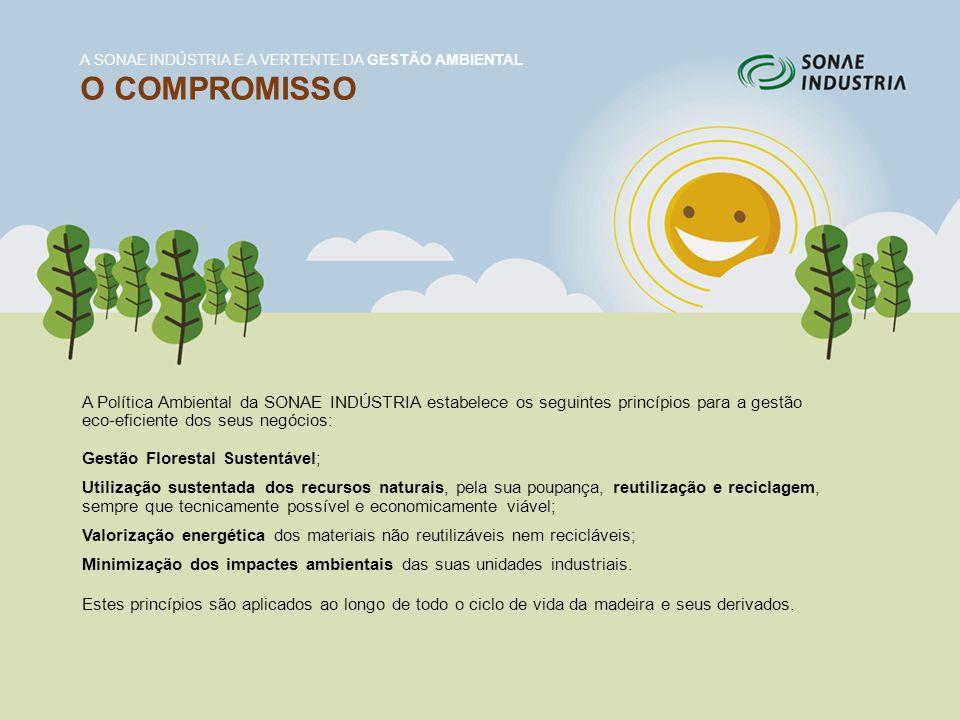 A Política Ambiental da SONAE INDÚSTRIA estabelece os seguintes princípios para a gestão eco-eficiente dos seus negócios: Gestão Florestal Sustentável