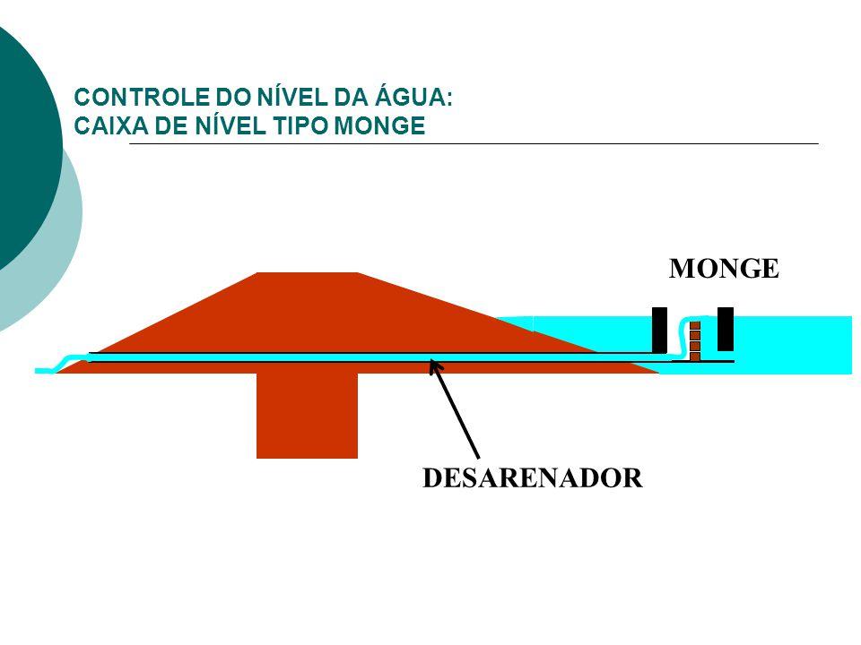 CONTROLE DO NÍVEL DA ÁGUA: CAIXA DE NÍVEL TIPO MONGE DESARENADOR MONGE