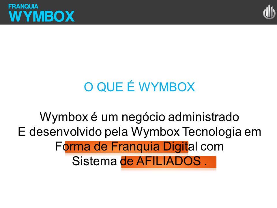O QUE É WYMBOX Wymbox é um negócio administrado E desenvolvido pela Wymbox Tecnologia em Forma de Franquia Digital com Sistema de AFILIADOS.