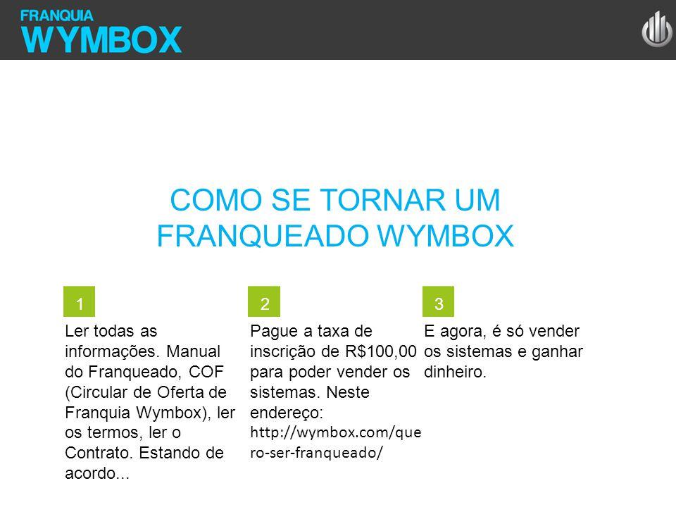 COMO SE TORNAR UM FRANQUEADO WYMBOX Ler todas as informações. Manual do Franqueado, COF (Circular de Oferta de Franquia Wymbox), ler os termos, ler o