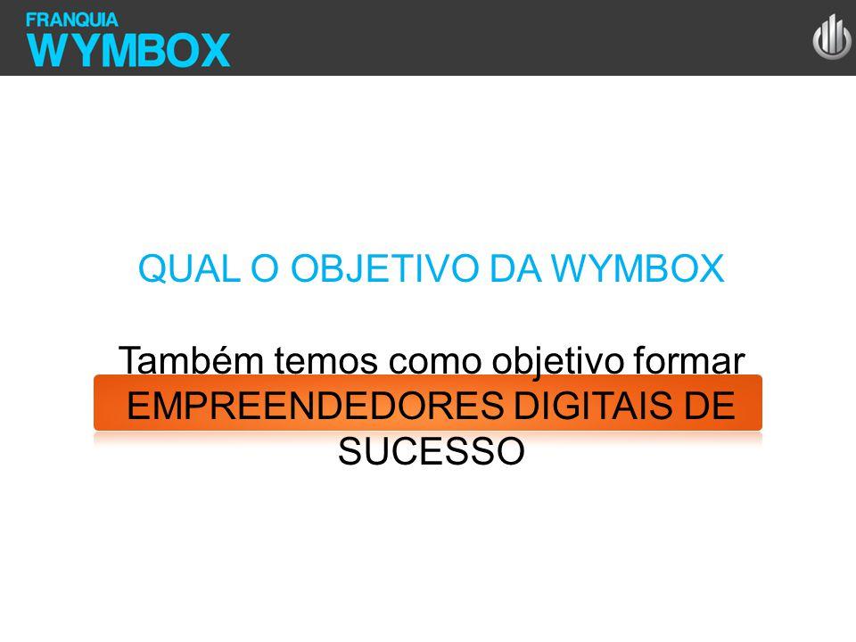 QUAL O OBJETIVO DA WYMBOX Também temos como objetivo formar EMPREENDEDORES DIGITAIS DE SUCESSO