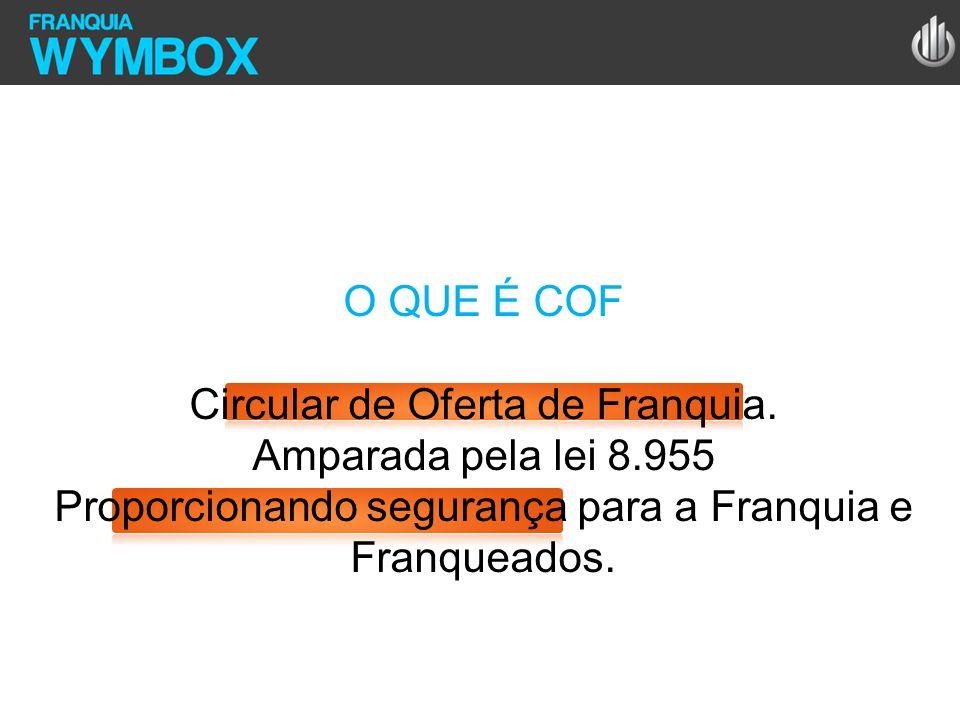 O QUE É COF Circular de Oferta de Franquia. Amparada pela lei 8.955 Proporcionando segurança para a Franquia e Franqueados.