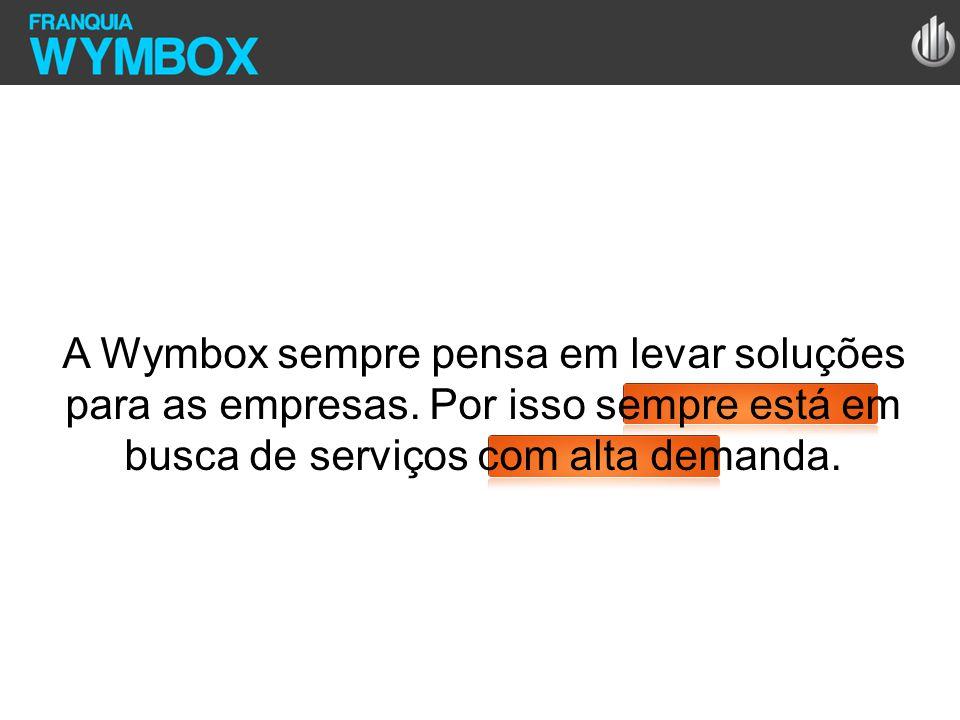 A Wymbox sempre pensa em levar soluções para as empresas. Por isso sempre está em busca de serviços com alta demanda.