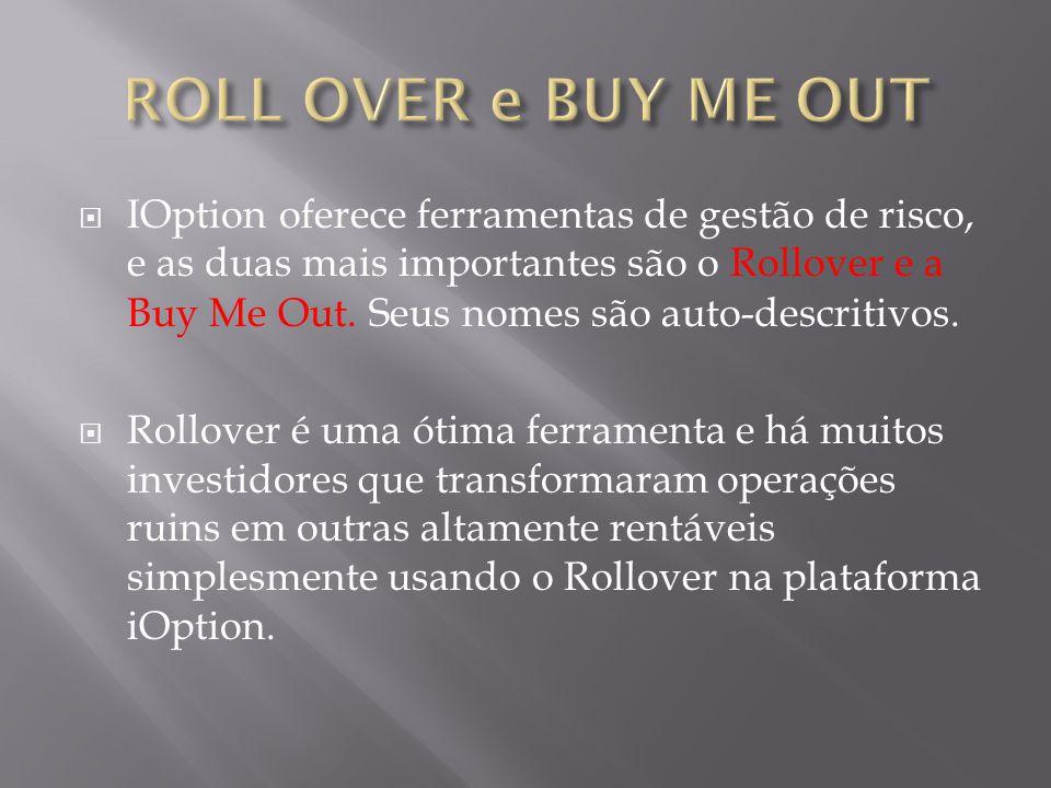  IOption oferece ferramentas de gestão de risco, e as duas mais importantes são o Rollover e a Buy Me Out.