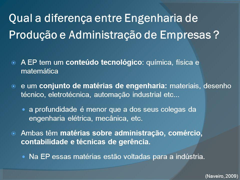 Qual a diferença entre Engenharia de Produção e Administração de Empresas .