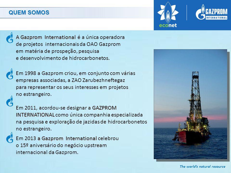 The world's natural resource GAZPROM INTERNATIONAL Em 2010, a GAZPROM INTERNATIONAL iniciou a perfuração de um poço ultraprofundo de prospeção e avaliação, Shakhrinav-1p , localizado na área de Sarikamysh no Tajiquistão.