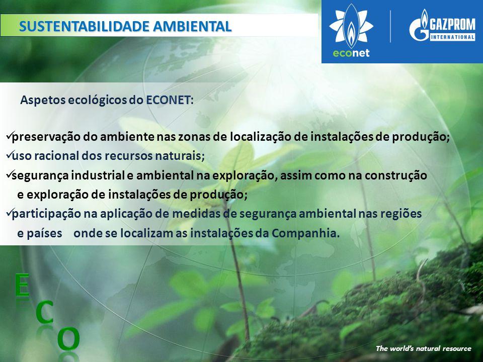 SEGURANÇA NO TRABALHO The world's natural resource