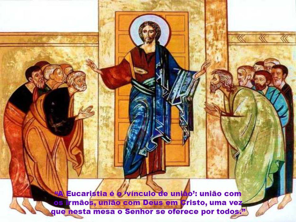 """""""A salvação definitiva é obra do Senhor que vem e virá, e pede aos seus amigos que colaborem para que seu plano se torne cada vez mais uma realidade e"""