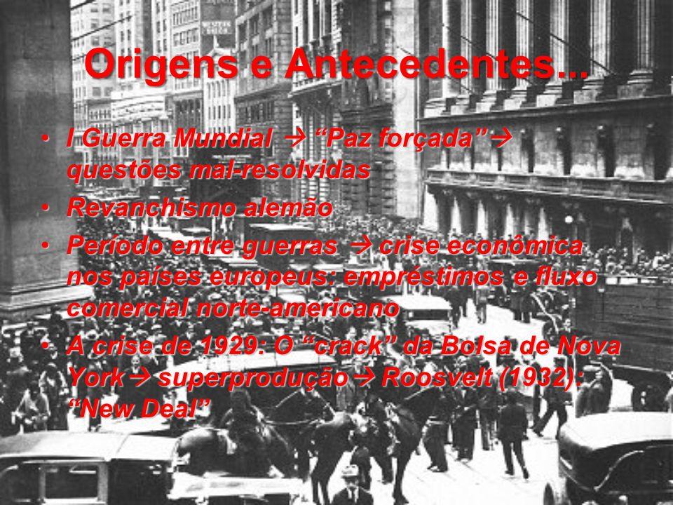 A Grande Guerra Eclosão da II Guerra  invasão alemã à Polônia; Declarações de guerra:Eclosão da II Guerra  invasão alemã à Polônia; Declarações de guerra: Inglaterra e França X AlemanhaInglaterra e França X Alemanha Ocupações alemães: Noruega, Dinamarca, Holanda e BélgicaOcupações alemães: Noruega, Dinamarca, Holanda e Bélgica Formação da ALIANÇA: Inglaterra, França e EUAFormação da ALIANÇA: Inglaterra, França e EUA