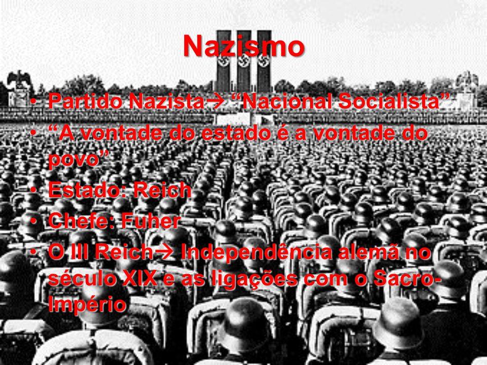 Regimes Totalitaristas Fascismo  Itália  Líder: MussoliniFascismo  Itália  Líder: Mussolini Nazismo  Alemanha  Líder: HitlerNazismo  Alemanha 