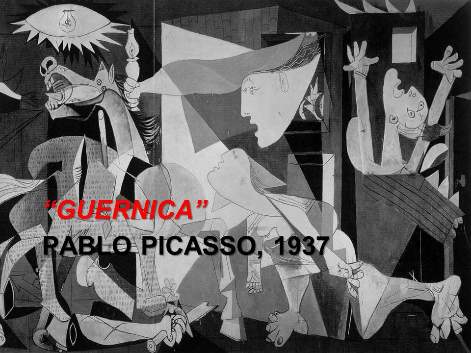 PABLO PICASSO, 1937 GUERNICA