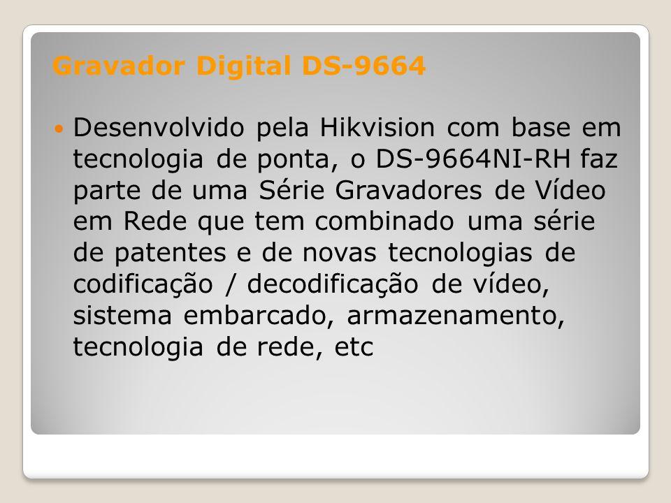 Desenvolvido pela Hikvision com base em tecnologia de ponta, o DS-9664NI-RH faz parte de uma Série Gravadores de Vídeo em Rede que tem combinado uma s