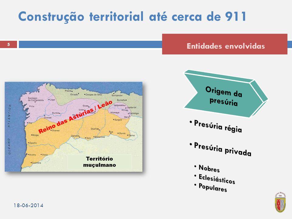 Construção territorial até cerca de 911 18-06-2014 5 Entidades envolvidas