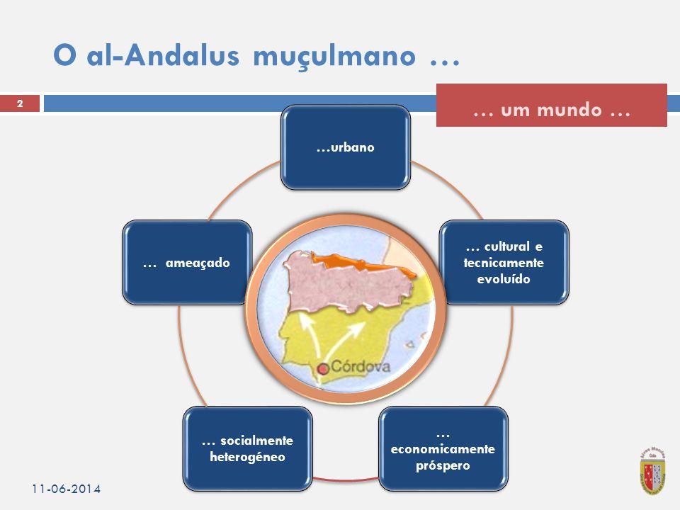 …urbano … cultural e tecnicamente evoluído … economicamente próspero … socialmente heterogéneo … ameaçado O al-Andalus muçulmano … 11-06-2014 2 … um mundo …