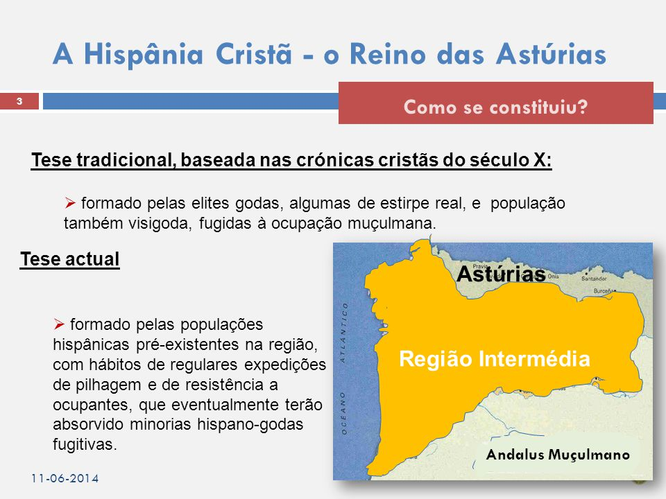 A Hispânia Cristã - o Reino das Astúrias 3 Como se constituiu.