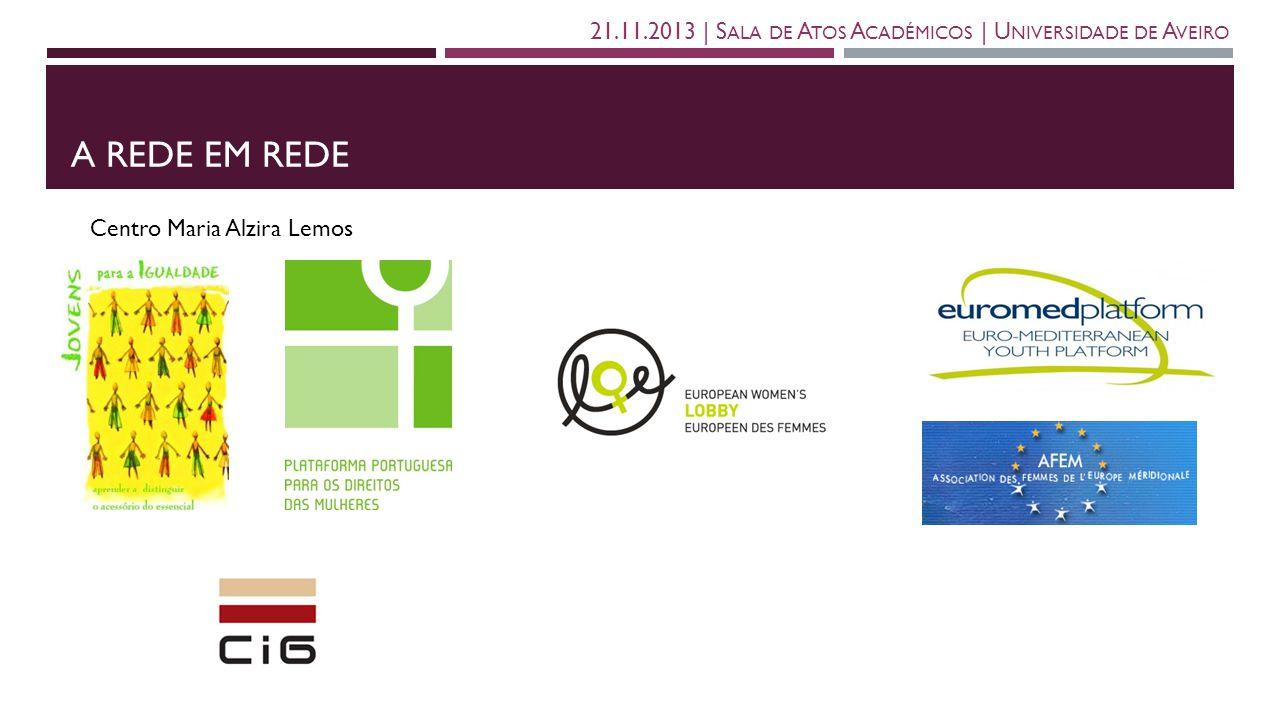 A REDE EM REDE 21.11.2013   S ALA DE A TOS A CADÉMICOS   U NIVERSIDADE DE A VEIRO Centro Maria Alzira Lemos