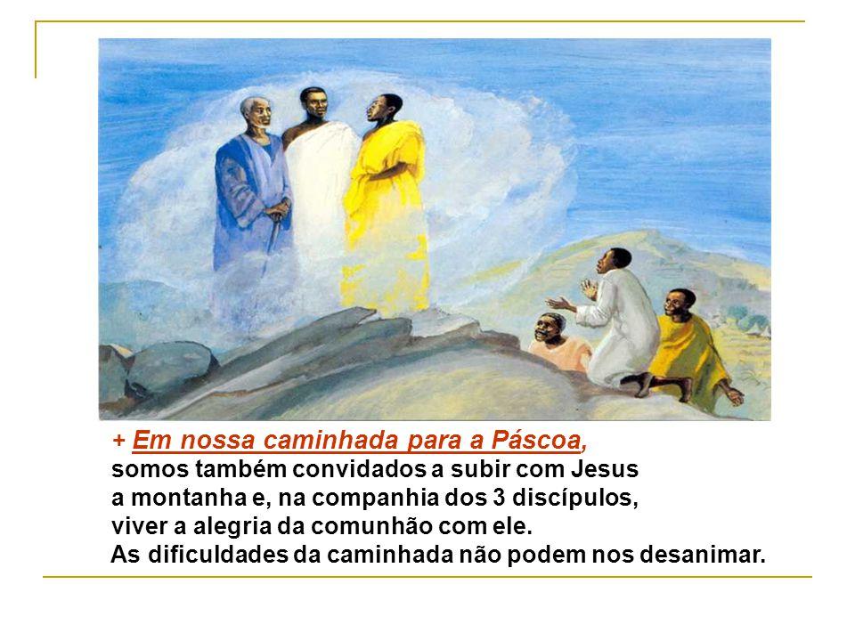 * A transfiguração de Jesus é uma Catequese que revela aos discípulos e a nós Quem é Jesus: o FILHO AMADO DE DEUS: Um novo MOISÉS que dá ao seu povo u