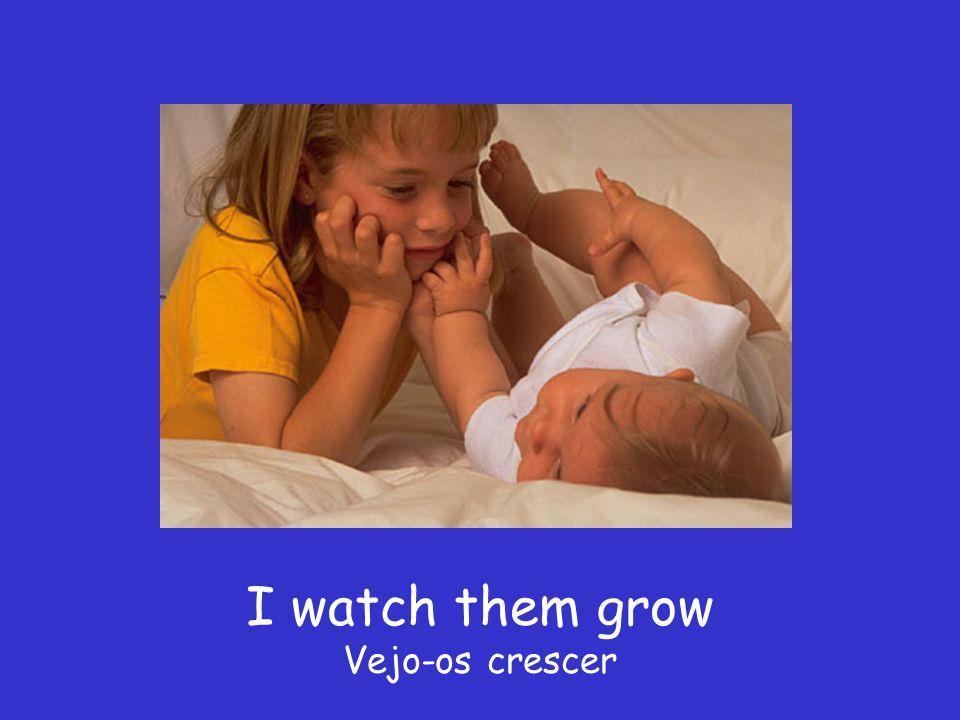 I watch them grow Vejo-os crescer