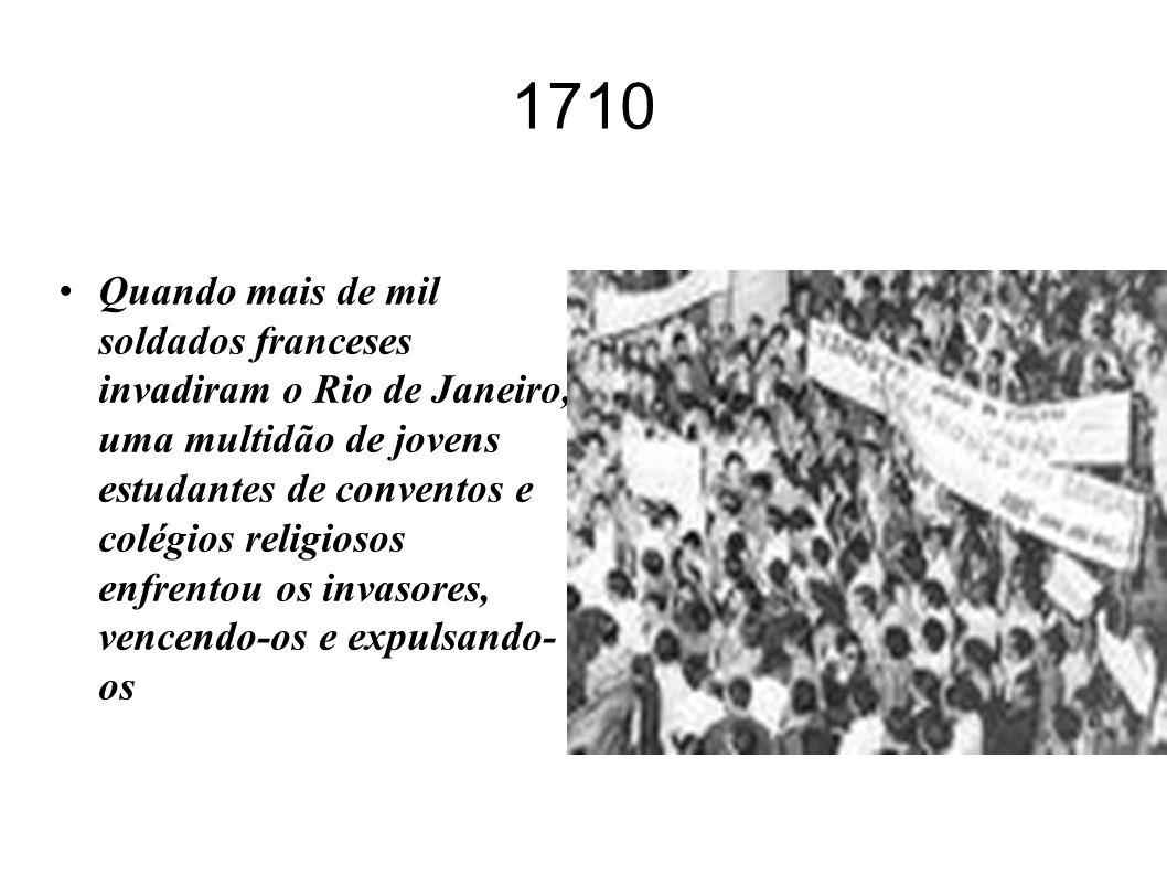 O movimento estudantil na História do Brasil A juventude sempre cumpriu – e cumpre – um papel importante na História dos povos. No Brasil, também é as