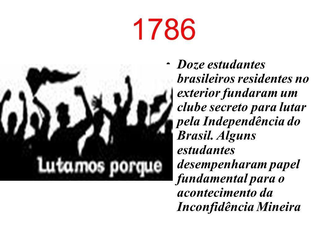 1710 Quando mais de mil soldados franceses invadiram o Rio de Janeiro, uma multidão de jovens estudantes de conventos e colégios religiosos enfrentou os invasores, vencendo-os e expulsando- os