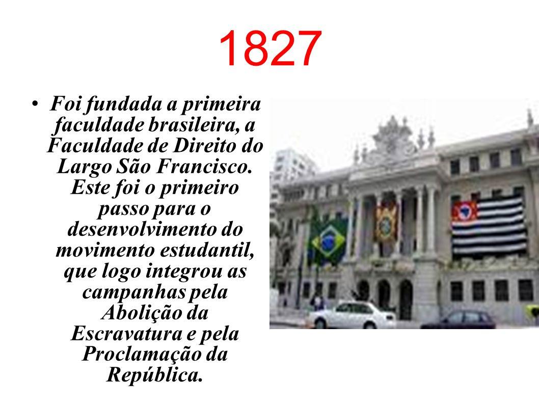 1786 Doze estudantes brasileiros residentes no exterior fundaram um clube secreto para lutar pela Independência do Brasil. Alguns estudantes desempenh