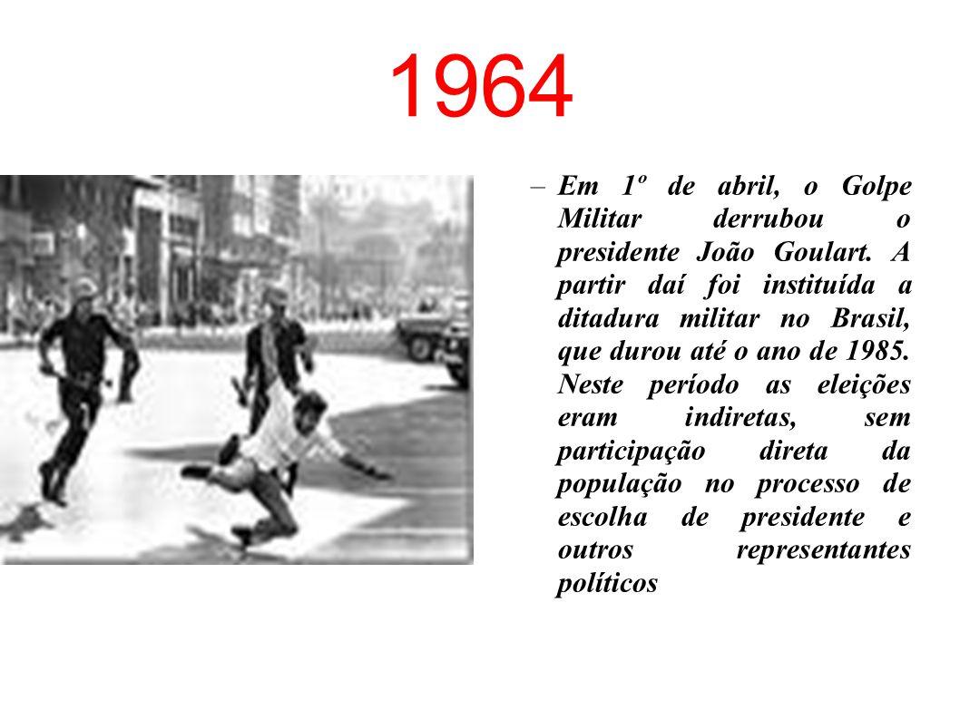 1963/64 –Os estudantes foram responsáveis por um dos mais importantes momentos de agitação cultural da história do país. Era a época do Centro Popular