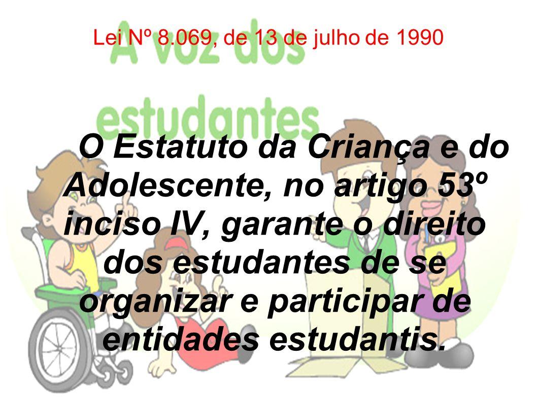 A Lei Nº 7.398, de novembro de 1985 Dispõe sobre a organização de entidades estudantis de 1º e 2º graus e assegura aos estudantes o direito de se organizar em Grêmios: