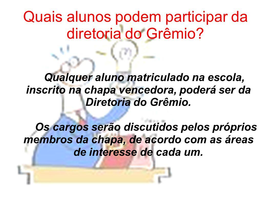 O Grêmio tem direito a uma sala na escola.Sim.