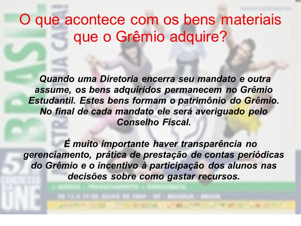 O que se pode fazer com recursos financeiros captados pelo Grêmio? Vocês podem utilizá-lo para organizar e promover atividades ou eventos do Grêmio. P