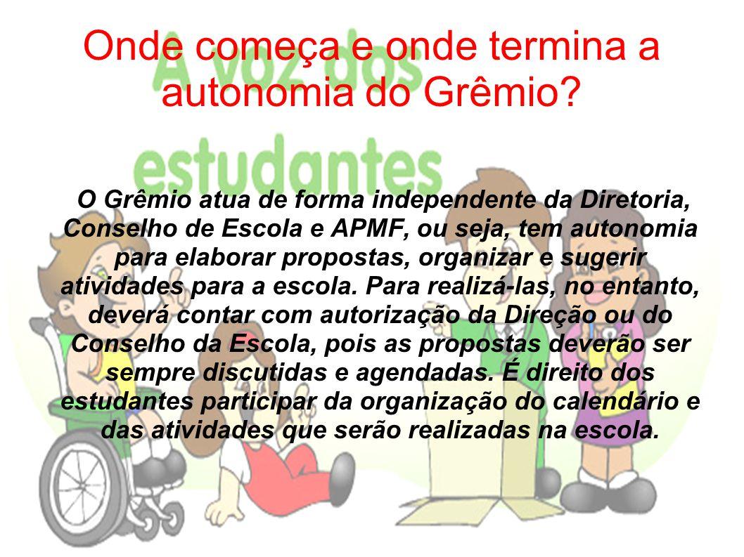 O que acontece com os bens materiais que o Grêmio adquire.