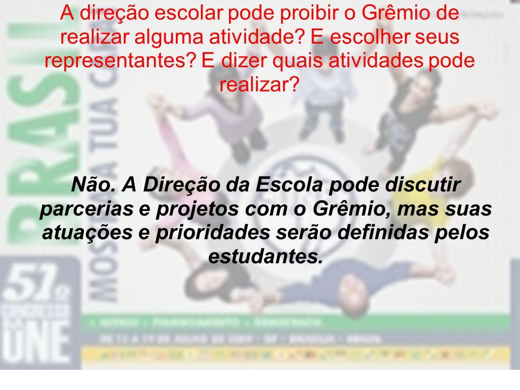 Onde começa e onde termina a autonomia do Grêmio? O Grêmio atua de forma independente da Diretoria, Conselho de Escola e APMF, ou seja, tem autonomia