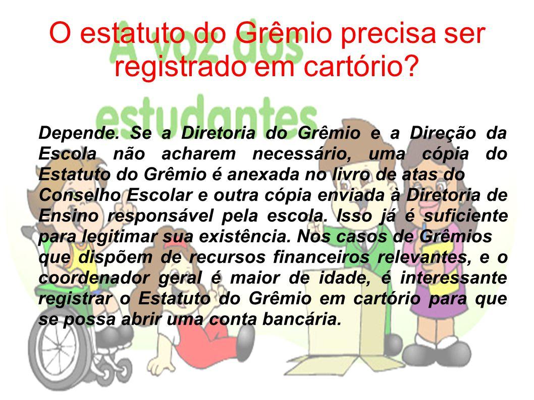 A direção escolar pode proibir o Grêmio de realizar alguma atividade.