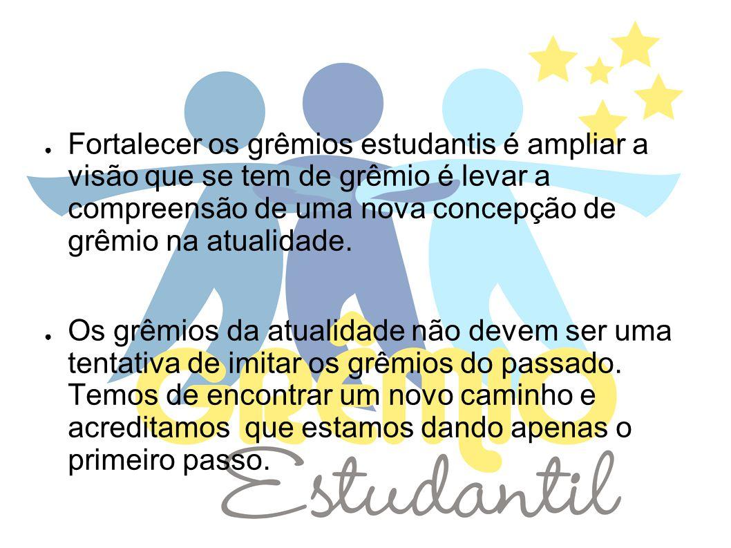 OBJETIVO: Ampliação e fortalecimento do GRÊMIO ESTUDANTIL, por meio dos estudantes visando a formação integral do aluno.