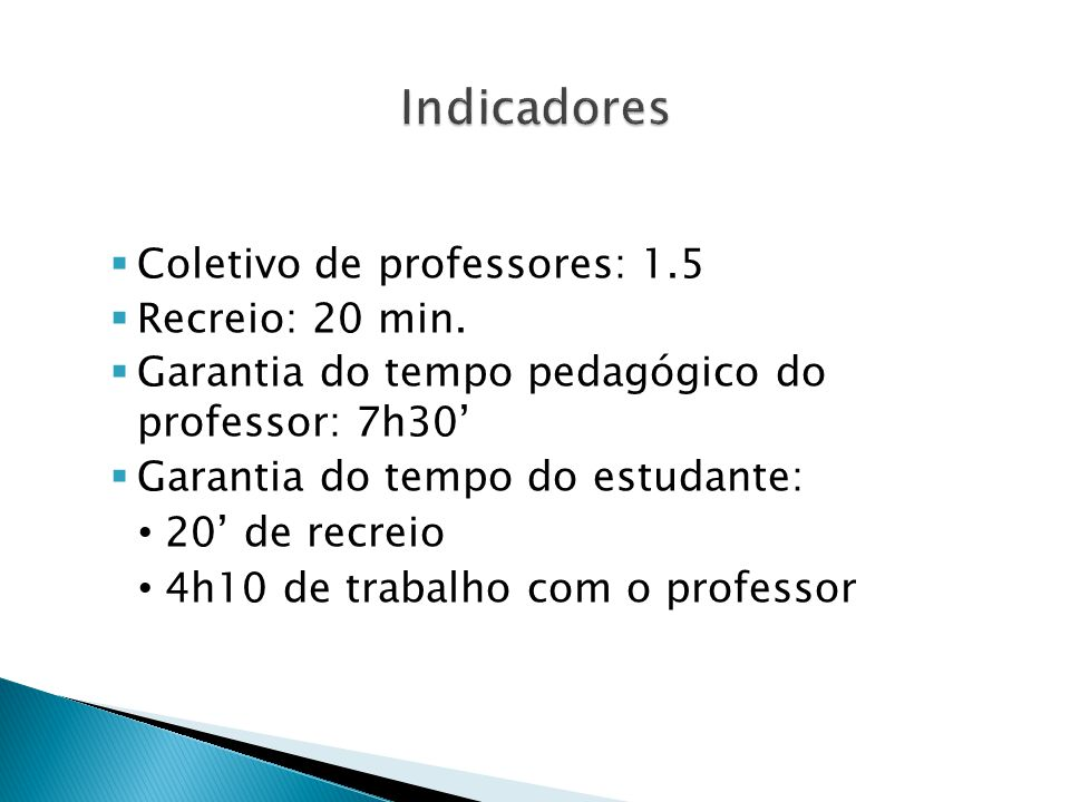  Coletivo de professores: 1.5  Recreio: 20 min.