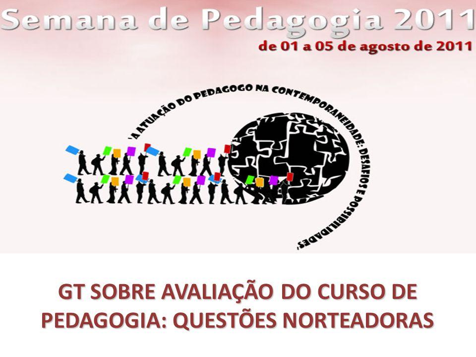 GT SOBRE AVALIAÇÃO DO CURSO DE PEDAGOGIA: QUESTÕES NORTEADORAS